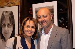 Vicente Corona junto a María José san Román, flamante nueva estrella Michelín, durante la inauguración