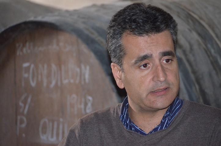 Francisco Quiles en su bodega de Monóvar