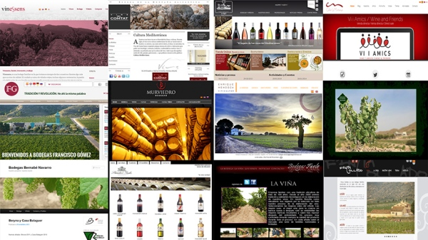 Images from the main web page of some wineries in Alicante. /LBA