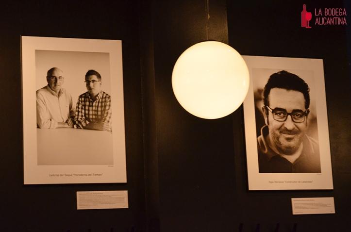 Imagen de los retratos de Juan Carlos y Carlos López de Lacalle y Pepe Mendoza.