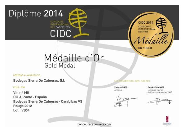 diploma carabibas VS 2012