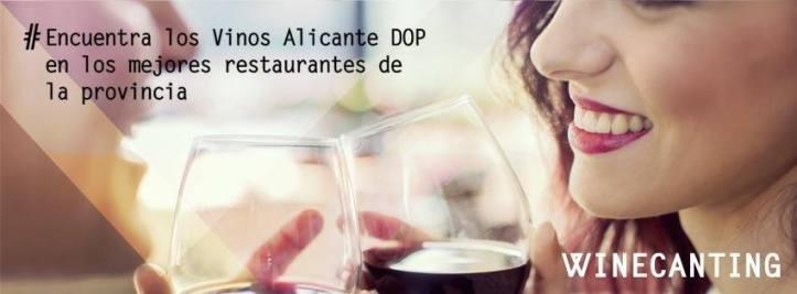 Una de las imágenes promocionales de la campaña Winecanting. / Vinos Alicante DOP