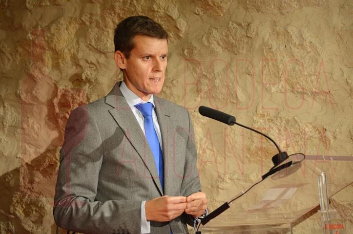 El Secretario Autonómico durante su intervención en la gala de Premios Bocopa donde se produjo el anuncio. /LBA